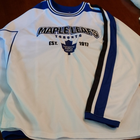 the latest 7253e 10737 Hockey Jersey Toronto Maple Leaf Boys 14/16 L EUC